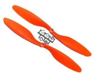 Quadcopter Propeller ABS Glasfaserverstärkt 1 Paar 10x4.5 Rechts und Linkslauf orange