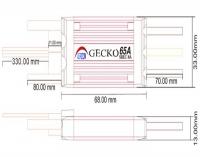 AERIZON Gecko 65A SBEC  Regler 2-6S Lipo 8A BEC
