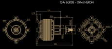 DUALSKY GA 6000.8S Single Shaft Edition