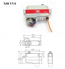 KST X08V V5 Stahl Getriebe 2.8kg/cm@8.4V