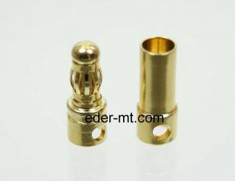 12er Pack 3,5 mm Paar (Buchse+Stecker) Gold