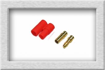 5er Pack 3,5mm Goldstecker mit Hülsen