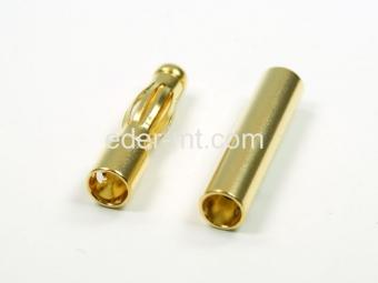 10er Pack 4mm Paar (Buchse+Stecker) Gold