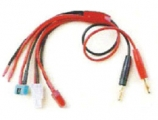 Ladekabel 4 mm Goldstecker auf Deans/MPX/Tamia/1x frei verwendbar  16AWG Silikonkabel Länge 45 cm
